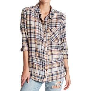 Melrose and Market plaid  button up. Large